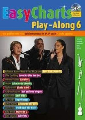 Easy Charts Play-Along, für Bb/Eb/C-Instrument, m. Audio-CD. Bd.6