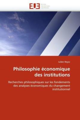 Philosophie économique des institutions
