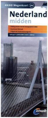 ANWB Wegenkaart Straßenkarte Midden Nederland