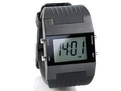 Sprechende LCD Herren-Armbanduhr