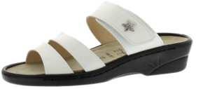 Sandalen aus Lackleder weiß Größe 42