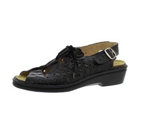 Sandalen aus Lackleder schwarz Größe 43