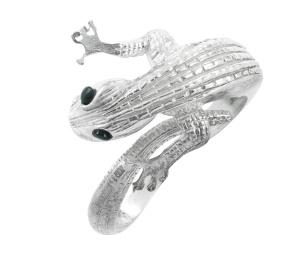 Ring in Form eines Geckos mit Saphiren 925-silber