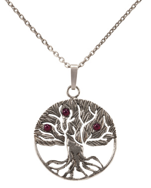Kette+ Anhänger in Form des Baum des Lebens Silber Si925- antik