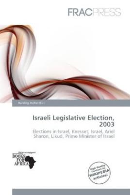Israeli Legislative Election, 2003