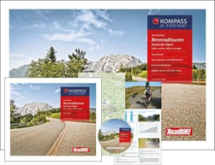 Kompass Rennradführer Die höchsten Rennradtouren Deutsche Alpen, m. 32 Karten u. 1 DVD