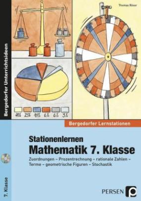 Stationenlernen Mathematik 7. Klasse, m. CD-ROM