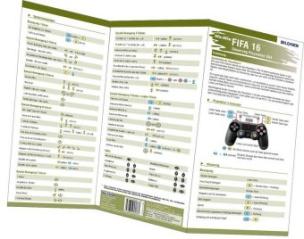 FIFA 16 - Seuerung Playstation 3 & 4, 1 Falttafel