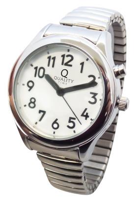 Sprechende Armbanduhr mit Zugband für Damen