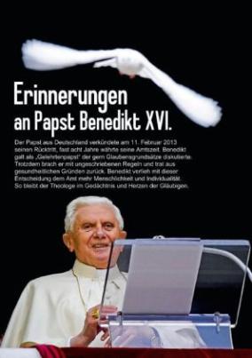 Erinnerungen an Papst Benedikt XVI. (Posterbuch DIN A4 hoch)