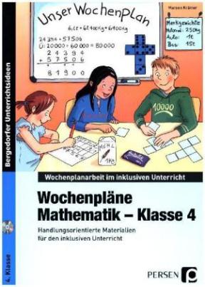 Wochenpläne Mathematik - Klasse 4, m. CD-ROM