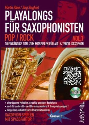 Playalong für Saxophonisten, m. Audio-CD. Vol.1