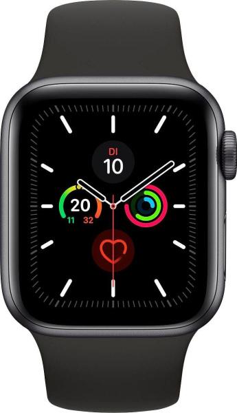 "APPLE Smart Watch ""Watch Series 5"" (GPS, 40 mm, Aluminiumgehäuse, space grau/schwarz)"