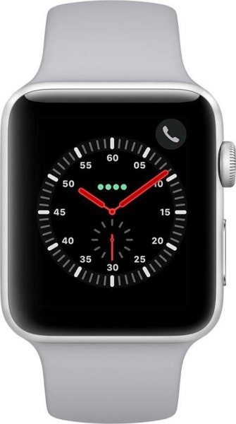 "APPLE Smart Watch ""Watch Series 3"" (GPS, 42 mm Aluminiumgehäuse, Silberfarben/Nebel)"