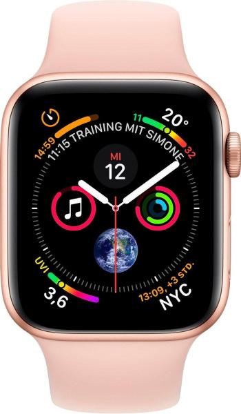 "APPLE Smart Watch ""Watch Series 4"" (GPS, 40 mm Aluminiumgehäuse, Goldfarben/Rosa)"
