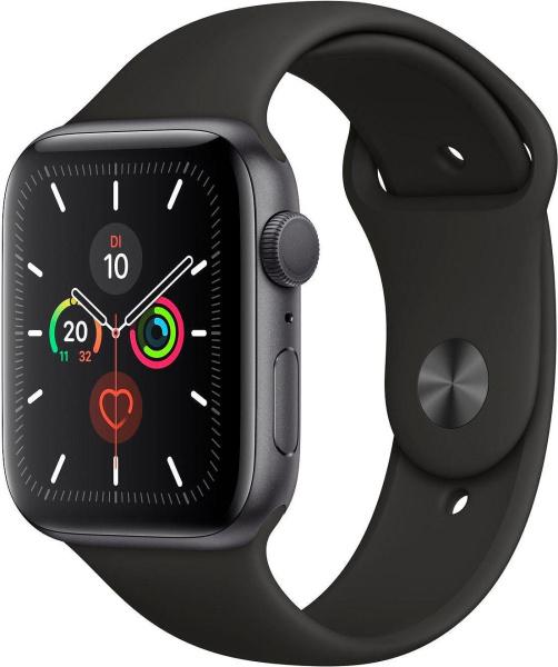 "APPLE Smart Watch ""Watch Series 5"" (GPS, 44 mm, Aluminiumgehäuse, space grau/schwarz)"