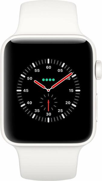 """APPLE Smart Watch """"Watch Series 3"""" (GPS, Cellular, 38 mm Edelstahlgehäuse, Soft Weiß)"""