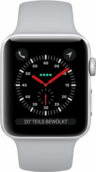 "APPLE Smart Watch ""Watch Series 3"" (GPS, Cellular, 42 mm Aluminiumgehäuse, Silberfarben/Nebel)"