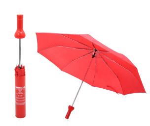 Regenschirm als Flasche rot