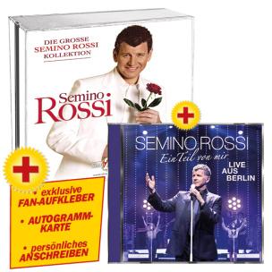 Die grosse Semino Rossi Kollektion + Ein Teil von mir (Live aus Berlin) + GRATIS Aufkleber & Autogrammkarte