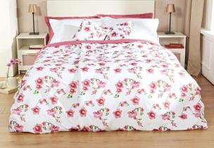 Bettüberwurf Orchidee mit zwei Kissenbezügen