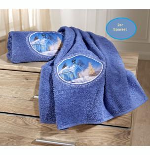 Handtuch mit Wintermotiv Sparset 2tlg.