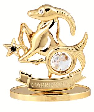 Sternzeichenfigur mit Swarovski Kristallen Steinbock