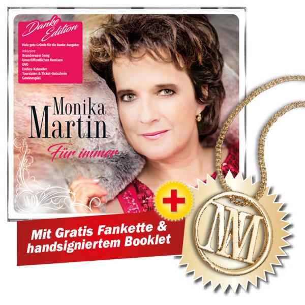 f r immer danke edition gratis monika martin halskette. Black Bedroom Furniture Sets. Home Design Ideas