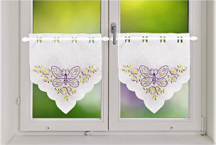 Scheiben-Gardine 2er Set Schmetterling