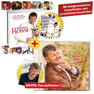 So ist das Leben + Die grosse Semino Rossi Kollektion  + GRATIS Aufkleber & Autogrammkarte & Anschreiben