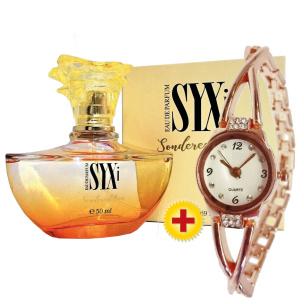 Sparset: Parfüm Syxi + Damenuhr