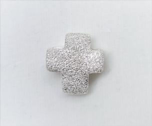 Anhänger Kreuz diamantiert Silber Si925  15 mm