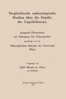 Vergleichende embryologische Studien über die Familie der Caprifoliaceae