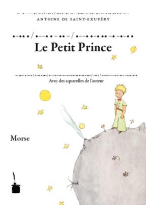 .-.. . / .--. . - .. - / .--. .-. .. -. -.-. .. Der kleine Prinz, Morse-Alphabet
