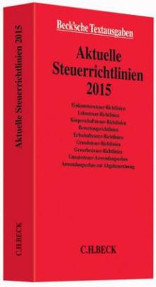 Aktuelle Steuerrichtlinien 2015