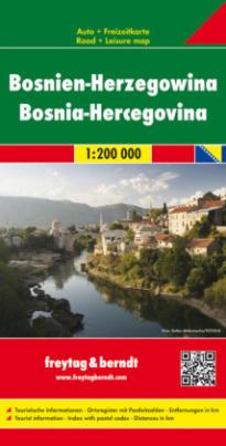 Freytag & Berndt Autokarte Bosnien-Herzegowina. Bosnia-Hercegovina