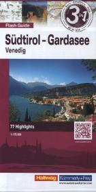 Hallwag Flash Guide Südtirol, Gardasee, Venedig