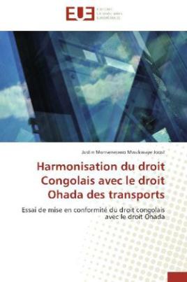 Harmonisation du droit Congolais avec le droit Ohada des transports