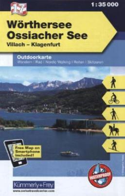 Kümmerly & Frey Outdoorkarte Österreich - Wörthersee, Ossiacher See