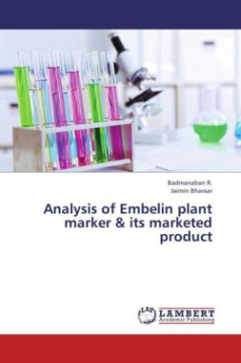 Analysis of Embelin plant marker & its marketed product
