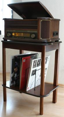Holzstandfuss-Regal für Plattenspieler NR513A