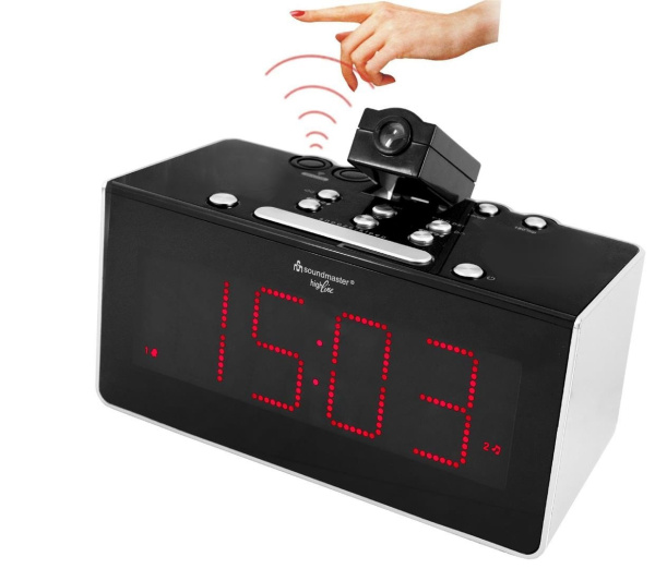 funkuhren pll radio mit projektion sensor und dualalarm. Black Bedroom Furniture Sets. Home Design Ideas