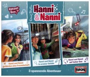 Hanni und Nanni - Rätselbox, 3 Audio-CDs